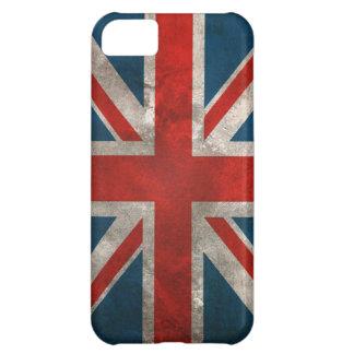 Bandera británica clásica apenada de Union Jack de Funda Para iPhone 5C
