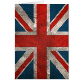Bandera británica clásica apenada de Union Jack de Tarjeta De Felicitación