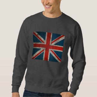 Bandera británica clásica apenada de Union Jack Sudadera Con Capucha
