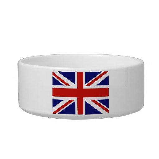 Bandera británica comedero para mascota