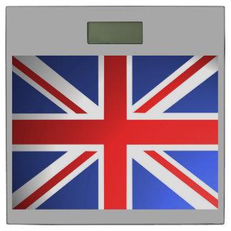 Bandera BRITÁNICA… con su color de fondo Báscula
