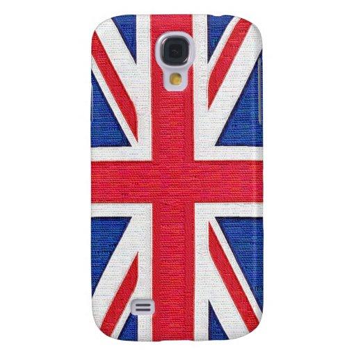 ¡Bandera BRITÁNICA cosida de la mirada - hilos!