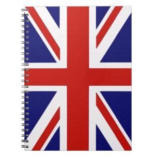 Bandera británica libro de apuntes con espiral