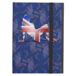 Bandera británica de la silueta del chica
