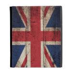 Bandera BRITÁNICA de madera vieja;