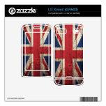 Bandera BRITÁNICA de madera vieja; Skins Para LG Xenon
