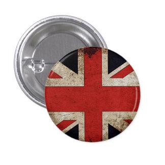 Bandera BRITÁNICA de Reino Unido del Grunge del or Pin Redondo 2,5 Cm