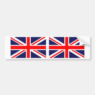 Bandera británica de Reino Unido Union Jack Etiqueta De Parachoque