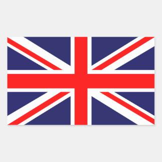 Bandera británica de Reino Unido Union Jack Rectangular Pegatina