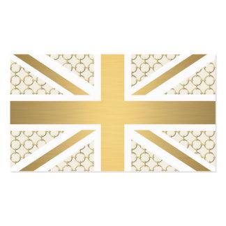 Bandera BRITÁNICA de Union Jack con el modelo del Tarjetas De Visita