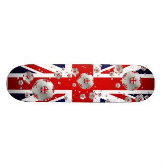 Bandera británica de Union Jack de las bolas del f Patines