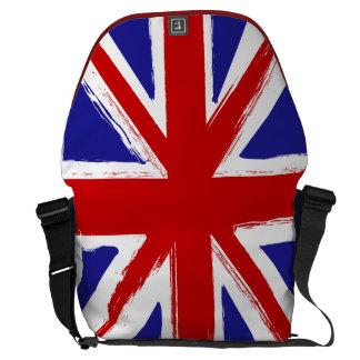 Bandera británica de Union Jack del estilo del Gru Bolsa Messenger