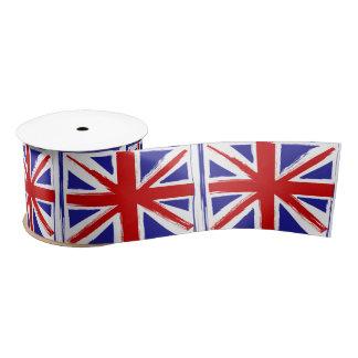 Bandera británica de Union Jack del estilo del Lazo De Raso