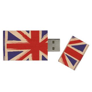 Bandera británica de Union Jack del estilo del Pen Drive De Madera USB 2.0