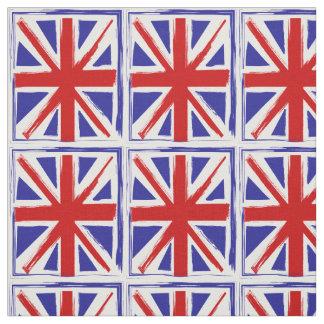 Bandera británica de Union Jack del estilo del Telas