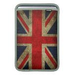 Bandera BRITÁNICA de Union Jack del Grunge del vin Funda MacBook