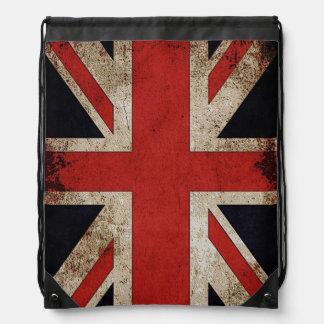 Bandera BRITÁNICA de Union Jack del Grunge del vin Mochila