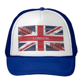 Bandera británica de Union Jack del Grunge Gorros Bordados