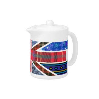 Bandera británica de Union Jack del modelo del tar