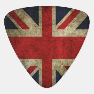 Bandera británica de Union Jack del rock-and-roll  Uñeta De Guitarra