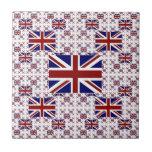 Bandera BRITÁNICA de Union Jack en capas Tejas Ceramicas