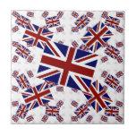 Bandera BRITÁNICA de Union Jack en capas oblicuame Teja