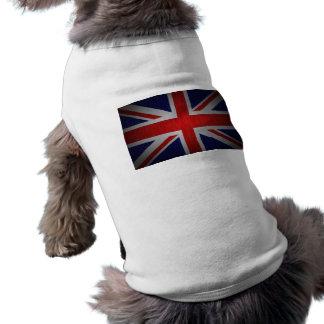 Bandera británica de Union Jack en las camisetas d Playera Sin Mangas Para Perro