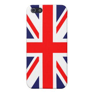 Bandera británica de Union Jack Gran Bretaña iPhone 5 Fundas