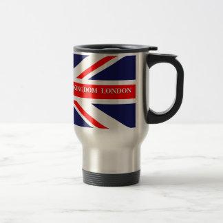 Bandera británica de Union Jack Gran Bretaña Londr Tazas De Café