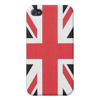 Bandera británica de Union Jack iPhone 4 Carcasas
