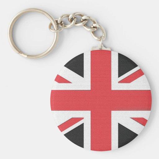 Bandera británica de Union Jack Llavero