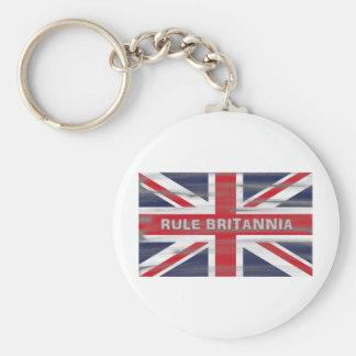 Bandera británica de Union Jack Llavero Redondo Tipo Pin