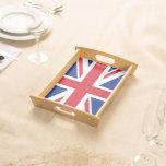 Bandera BRITÁNICA de Union Jack patriótica Bandejas