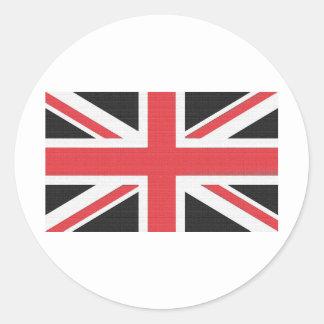Bandera británica de Union Jack Pegatina Redonda