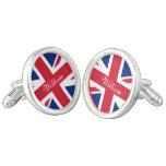 Bandera BRITÁNICA de Union Jack personalizada Gemelos