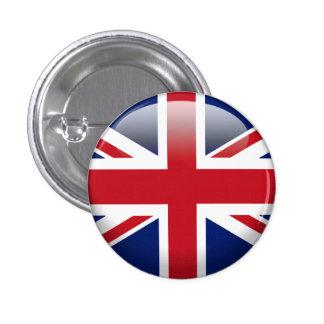 Bandera británica de Union Jack Pin Redondo De 1 Pulgada