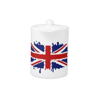 Bandera BRITÁNICA de Union Jack, pintura de goteo