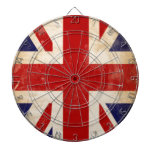 Bandera británica de Union Jack Tablero De Dardos