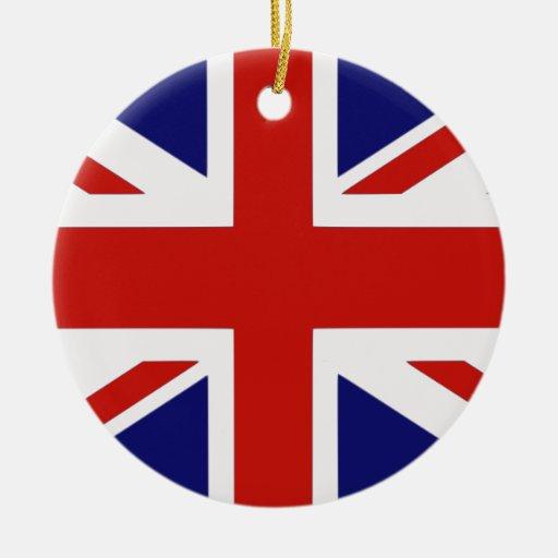 Bandera británica adorno de reyes