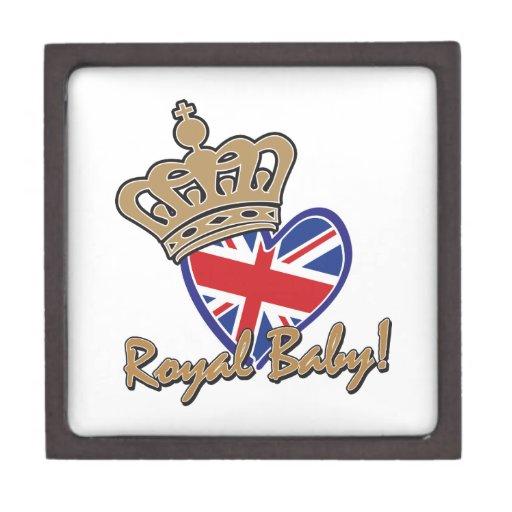 Bandera BRITÁNICA del corazón del bebé real Cajas De Joyas De Calidad