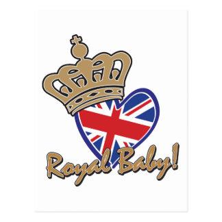 Bandera BRITÁNICA del corazón del bebé real Tarjeta Postal