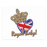 Bandera BRITÁNICA del corazón del bebé real Postales
