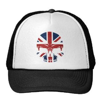 Bandera BRITÁNICA del cráneo de la anarquía Gorra