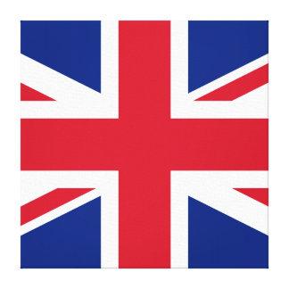 Bandera británica del ~ de Union Jack - cuadrado Impresion De Lienzo