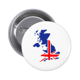 Bandera BRITÁNICA del mapa de Gran Bretaña Pin
