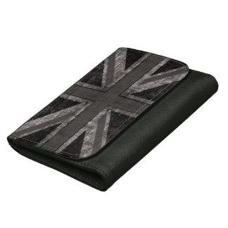 bandera británica del Union Jack del grunge - blan