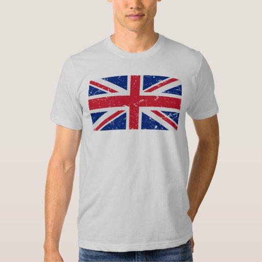 Bandera BRITÁNICA del vintage Playera