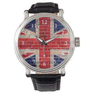 Bandera BRITÁNICA en un reloj de la pared de
