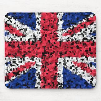 Bandera británica - estera del ratón tapete de ratón