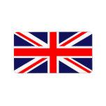 Bandera BRITÁNICA Etiqueta De Dirección